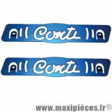 Plaque latérale de déco et protection bas de caisse Conti en alu cnc pour scooter Mbk booster yamaha bws (bleu) * Déstockage !