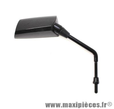 Déstockage ! Rétroviseur droit f1 de luxe diamètre 8mm émaille noir mat