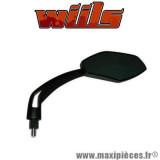 Rétroviseur droite Wiils VEGAS noir Diam.10mm vitre teintée *Destockage !