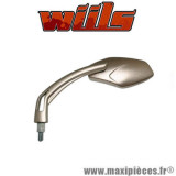 Rétroviseur gauche Wiils VEGAS titane Diam.10mm vitre teintée *Destockage !