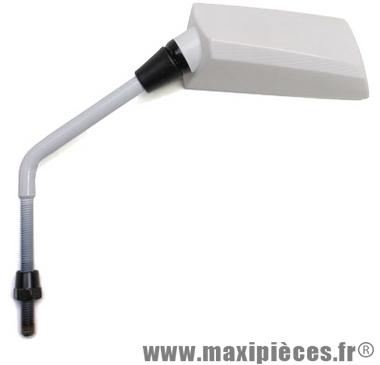 Déstockage ! paire de Rétroviseur droite et gauche f1 de luxe diamètre 8mm blanc
