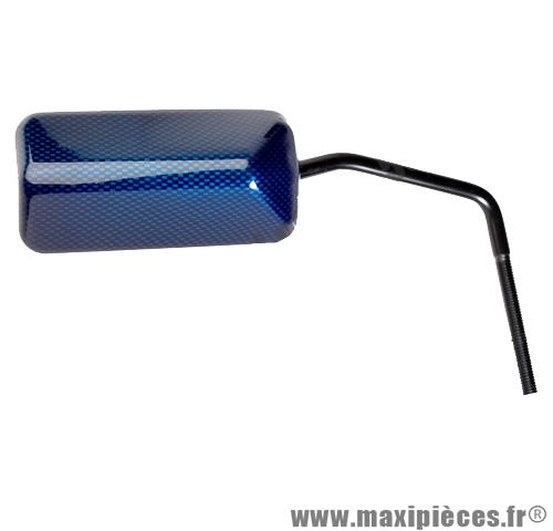 Déstockage ! rétroviseur réversible diamètre 8mm droite ou gauche imitation carbone bleu
