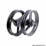 Déstockage ! Paire de roues/jantes Neuves Grimeca 17P avant et arrière alu noir pour moto Conti RX356, Metrakit GP 80, Derbi...
