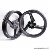 Déstockage ! Paire de roues/jantes Neuves Grimeca 17P avant et arrière alu noir pour moto Conti RX356, Metrakit mini GP XL copa , Derbi...