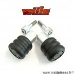 Tampons de protection noir + fixations Wiils pour HONDA 1000cc CBR de 2006-2007 (la paire) *Déstockage !