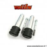 Tampons de protection noir + fixations Wiils pour Kawasaki Z1000 de 2003-2006 (la paire) *Déstockage !