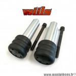 Tampons de protection noir + fixations Wiils pour Kawasaki Z-750 de 2004 à 2007 (la paire) *Déstockage !
