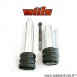 Tampons de protection noir + fixations Wiils pour Kawasaki 636cc ZX6R de 2003-2004 (la paire) *Déstockage !