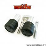 Tampons de protection noir + fixations Wiils pour Kawasaki 636cc ZX6R de 2007 (la paire) *Déstockage ! (copie)