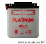 BATTERIE MOTO / SCOOT / QUAD YB3L-A PLATINUM 12V 3AH LG 98 L56 H110 ACIDE NON INCLUS