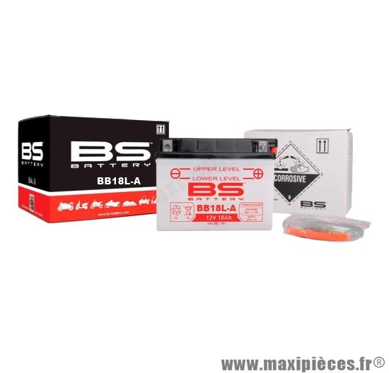 Déstockage ! BS-batterie 12v / 18ah BB18L-A (yb18l-A) pour moto guzzi 750 Nevada de 85 à 2010
