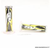 Paire de revêtements de poignées Ariete SV Performance noir/jaune/blanc *Prix discount !