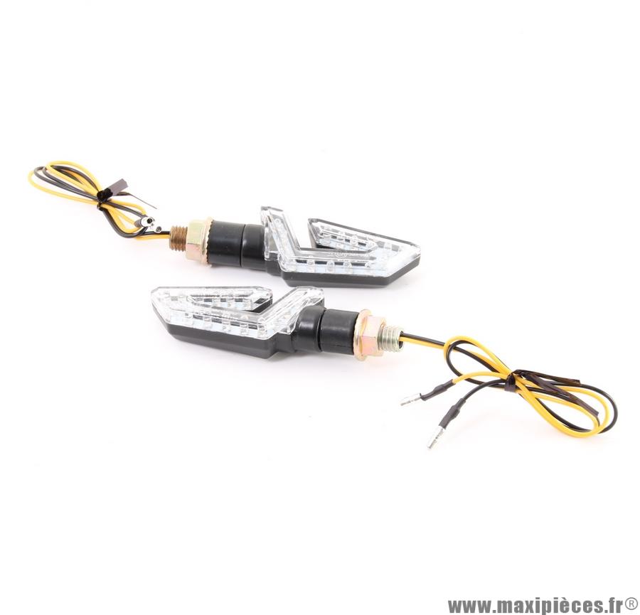 Clignotant a led boomerang universel (vendu par 2) (Homologué)