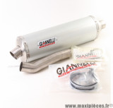 Silencieux d'échappement Giannelli Slip-On MAXI-OVAL Alu Honda CBF 500 04-06 *Déstockage !