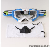 Masque/Lunette cross Ariete Riding Crows Top Bleu et Blanc *Déstockage !