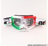 Déstockage ! Masque/Lunette cross Ariete Glamour Drapeau Italie vert/blanc/rouge