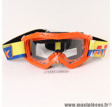 Déstockage ! Masque/Lunette cross Ariete 07 Line AAA couleur Orange
