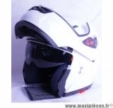 Déstockage ! Casque Intégral Modulable Victoria Bull V3 taille L (59-60 cm) Blanc Brillant