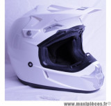 Casque Off Road/Cross Victoria Bull taille XL (61-62 cm) Blanc Brillant *Déstockage !