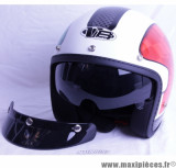 Déstockage ! Casque Jet Victoria Bull Freedom Italie taille L (59-60 cm) Vert/Blanc/Rouge