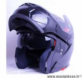 Déstockage ! Casque Intégral Modulable Victoria Bull V3 taille L (59-60 cm) Noir Brillant