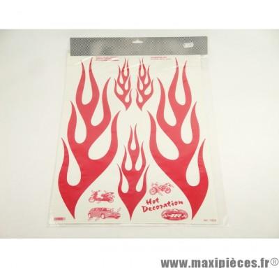Déstockage ! Kit déco autocollant flamming rouge