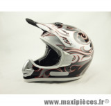 Prix discount ! Casque cross Off Road TDH400 Taille L (59-60 cm) déco orange
