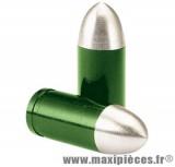Déstockage ! Bouchon de valve en forme de douille Vert (paire)