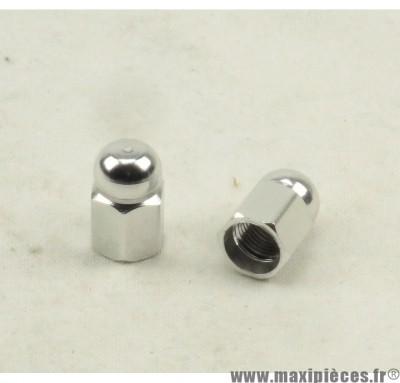 Déstockage ! Bouchon de valve en forme de pions Argent (paire)