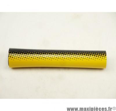Déstockage ! Mousse de guidon noire & jaune pour moto/50 à boite/scooter/mobylette/quad
