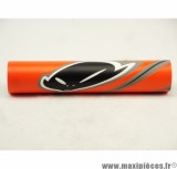 Déstockage ! Mousse de guidon Ufoplast orange pour moto/50 à boite/scooter/mobylette/quad