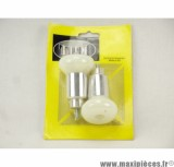 Prix discount ! Tampons de protection + embouts Omega pour Yamaha TZR 50 blanc (1 paire)