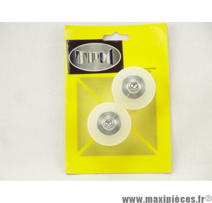 Prix discount ! Tampons de protection + embouts Delta pour Peugeot XR6 blanc (1 paire)