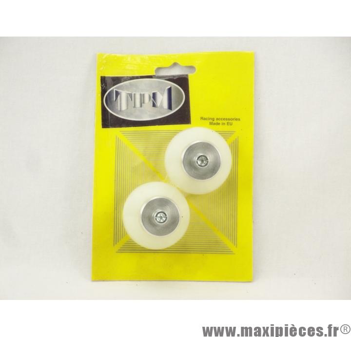 Prix discount ! Tampons de protection + embouts Omega pour Peugeot Speedfight blanc (2 paires)