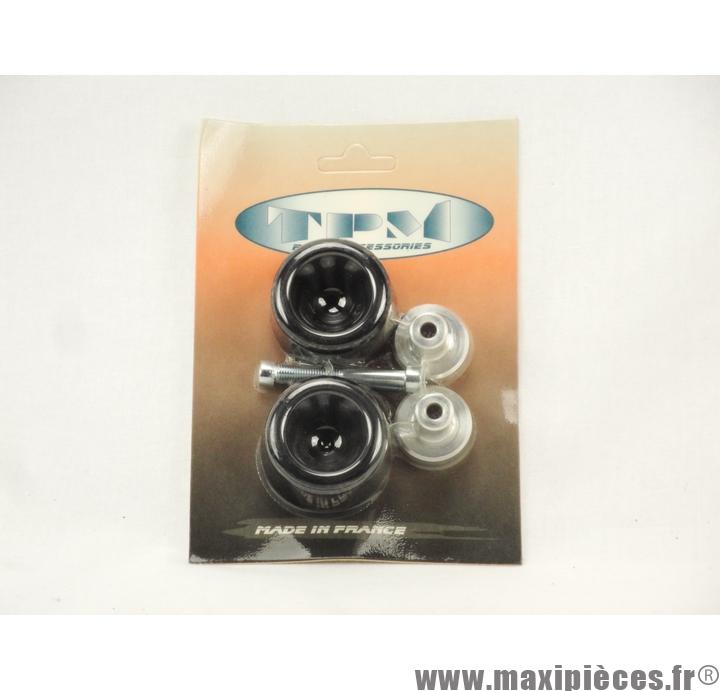 Prix discount ! Tampons de protection + embouts Delta pour MBK Booster/Yamaha BW's noir (2 paires)
