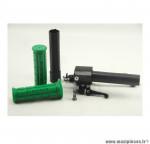 Poignée de gaz complete avec revêtement vert pour cyclomoteur mbk 51V