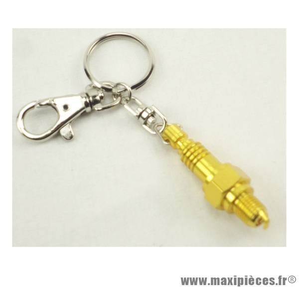 Porte clés bougie or