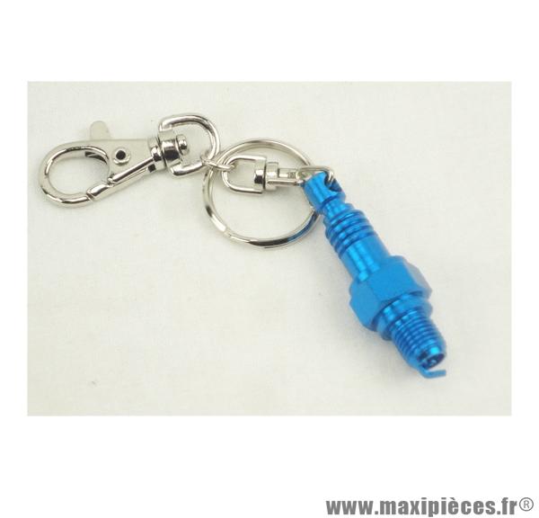 Porte clés bougie bleu