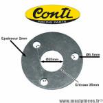 Joint de Silencieux/Cartouche de pot Conti V3 entraxe 3x35mm *Déstockage !