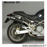 Silencieux d'échappement (x2) Giannelli Oval Carbone Ducati 620 Monster 02/06, 800 Monster 03/05, 1000 Monster03/05 et 695 Monster 06 *Déstockage !