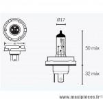 Ampoule H5 12V 60/55W *Prix spécial !