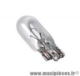 Déstockage ! Ampoule clignotant, compteur, veilleuse  12v 5w blanc W5W (X1) pour auto/moto/scooter/quad