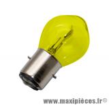Ampoule 6v 15/15w JAUNE BA20d (x1) *Déstockage !