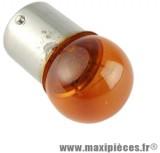 Ampoule de clignotant 12v 10w BA15S orange (à l'unité) pour auto/moto/scooter/quad