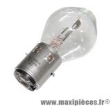 Déstockage ! Ampoule 6v 15/15w blanc BA20d (x1)