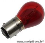 Déstockage ! Ampoule 12v 21w/5w rouge BAY15D (à l'unité)