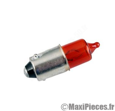 Déstockage ! ampoule de clignotant orange 12V 6W BA9s (x1) scooter, moto, quad, ...