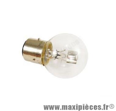 Déstockage ! Ampoule 6v 45/40w blanc BA21d Flösser (x1)