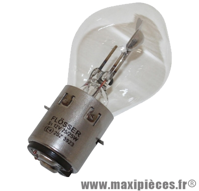 Prix spécial ! Ampoule 6v 35/35w blanc BA20d Flösser (x1)