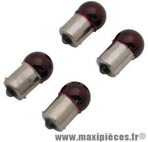 Prix spécial ! Ampoule feu de position 12v 10w BA15S rouge (x4) pour auto/moto/scooter/quad